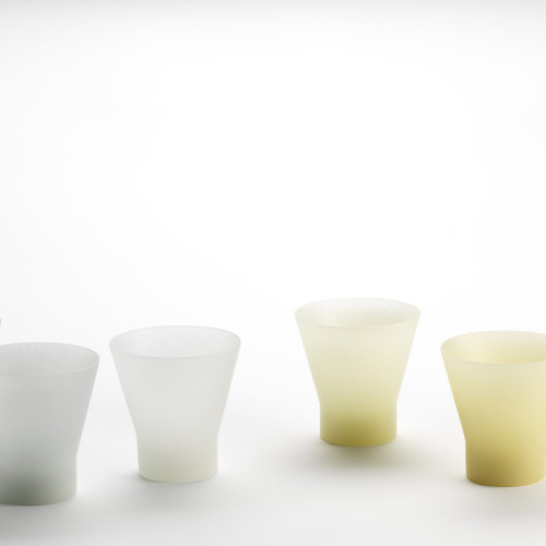 6 glass cups by Andrea Walsh