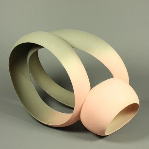 Wouter Dam, grey and pink sculpture