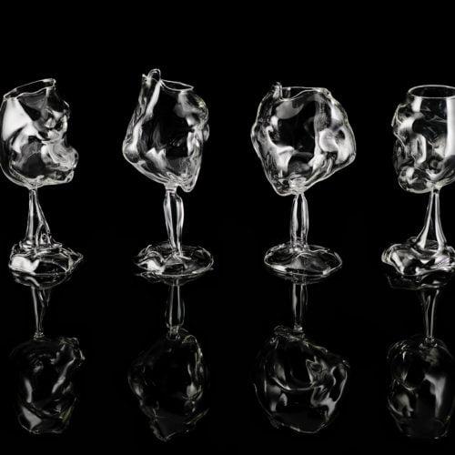 Cross Fire Wine Glasses by Geoffrey Mann