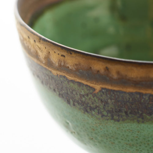 Lucie Rie Green Bowl at Joanna Bird