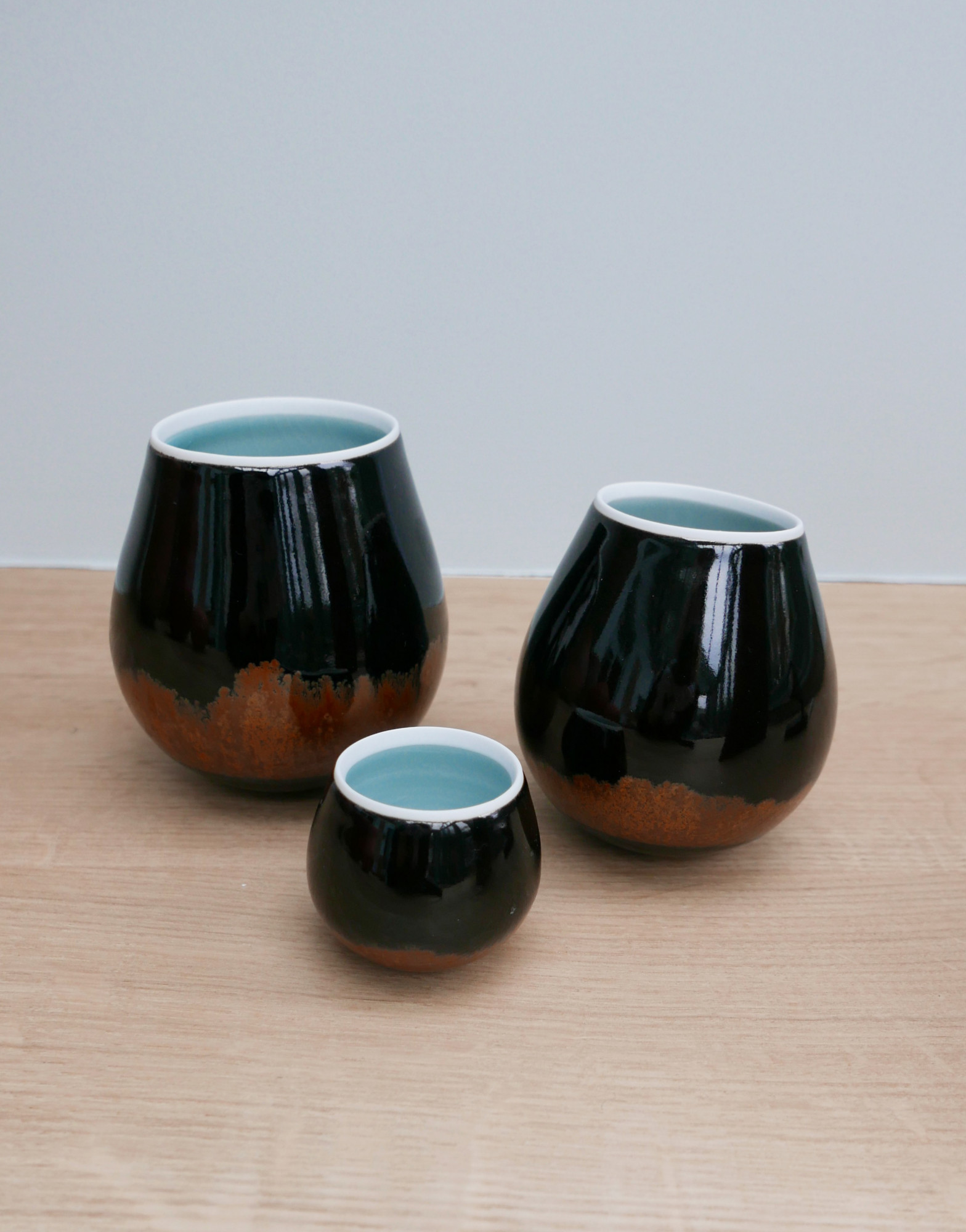 Chris Keenan Rocking Bowls at Joanna Bird Contemporary Collections