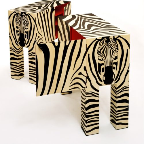 Zebra 1A by John Makepeace Pair of matched Zebra cabinets