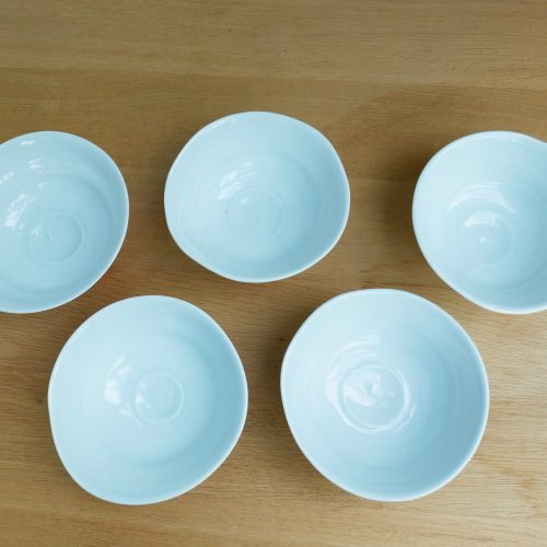 Takeshi Yasuda, Pale Blue Celadon Bowls at Joanna Bird Contemporary Collections