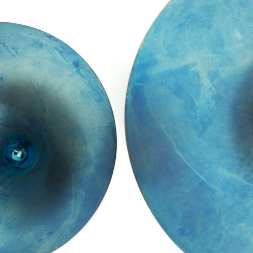 Adi Toch Blue Dimple Bowls at Joanna Bird Contemporary Collections