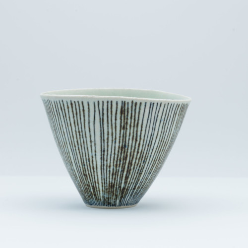 Lucie Rie, Striped Bowl, at Joanna Bird Contemporary Collections