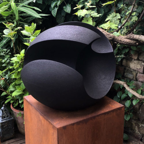 James Oughtibridge, Medium Jet Black Blade, Joanna Bird Contemporary Collections