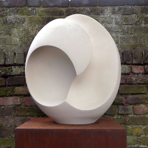 Jammes OughtibridgeLarge White Vertical Concave Form, Joanna Bird Contemporary Collections