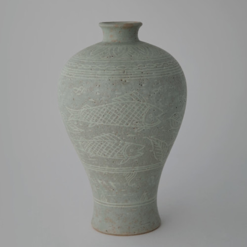 Soon-Tak Ji, Buncheong Prunus Vase, Joanna Bird Contemporary Collections