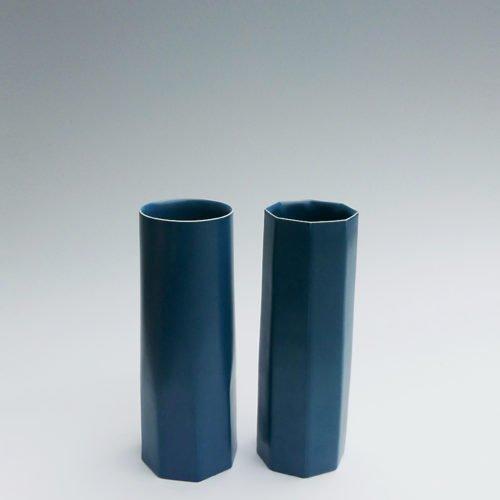 Jaejun Lee-Blue Semi Octagonaland Octagonal Cylinders, Joanna Bird Contemporary Collections
