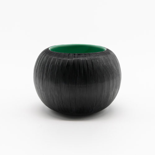 Micheluzzi Glass Bocia Nero and Menta